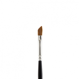 Slanted lip/eyeliner brush 133 (Black Wood L312 - Lip Brush - Taklon)